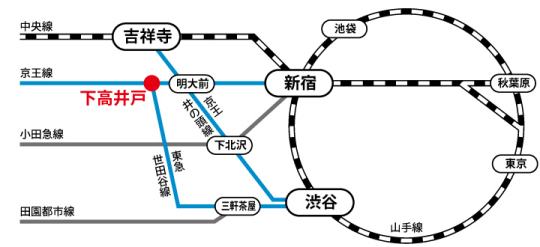 サイクルパインへの路線図